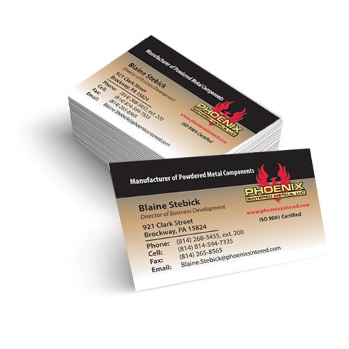 Phoenix Sintered Metals Business Cards 2015 - PRESS